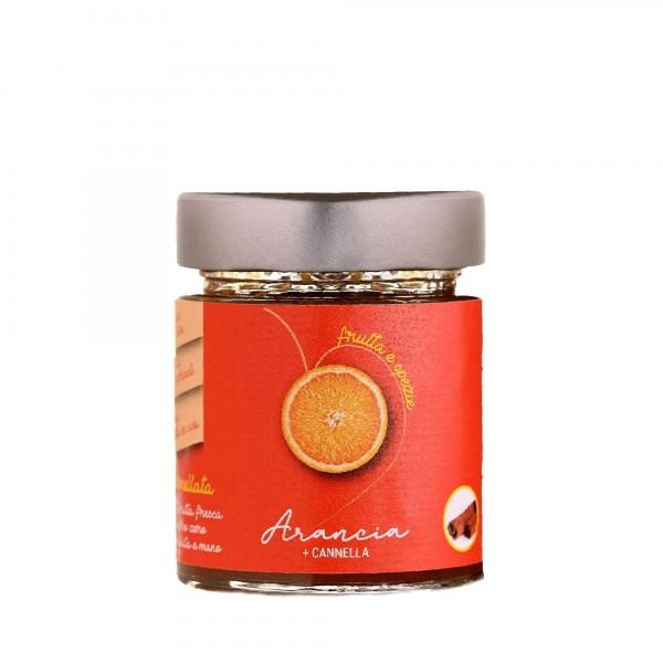 vasetto di marmellata al gusto arancia & cannella